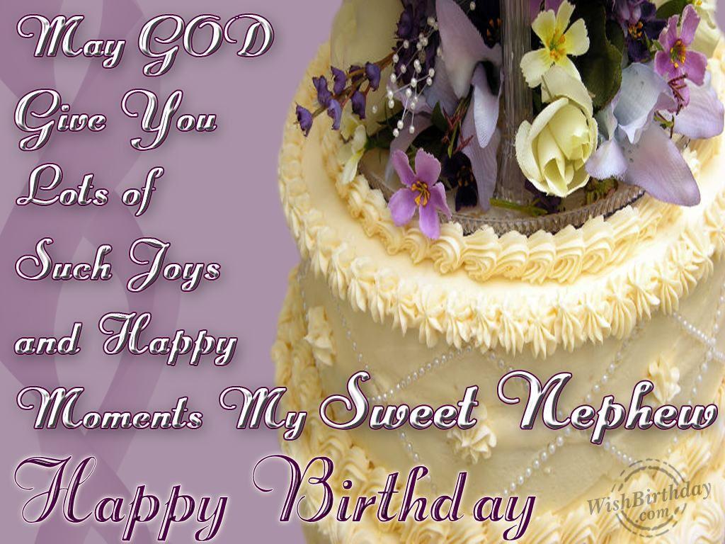 Wishing Happy Birthday To A Sweet Nephew – Birthday Cards for Nephew