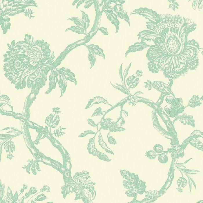 World Menagerie Surig 27 X 27 Quot Floral Texture Wallpaper