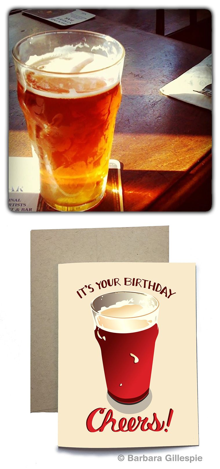 Birthday Beer Card Birthday Cheers Card Its Your Birthday