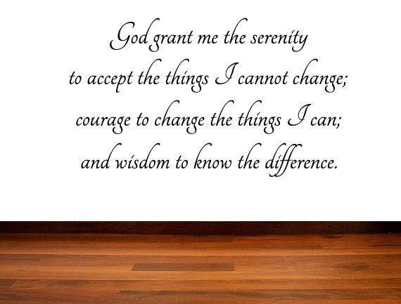 The Serenity Prayer Vinyl Wall Decal God Grant Me The Serenity - Custom vinyl decal quotes