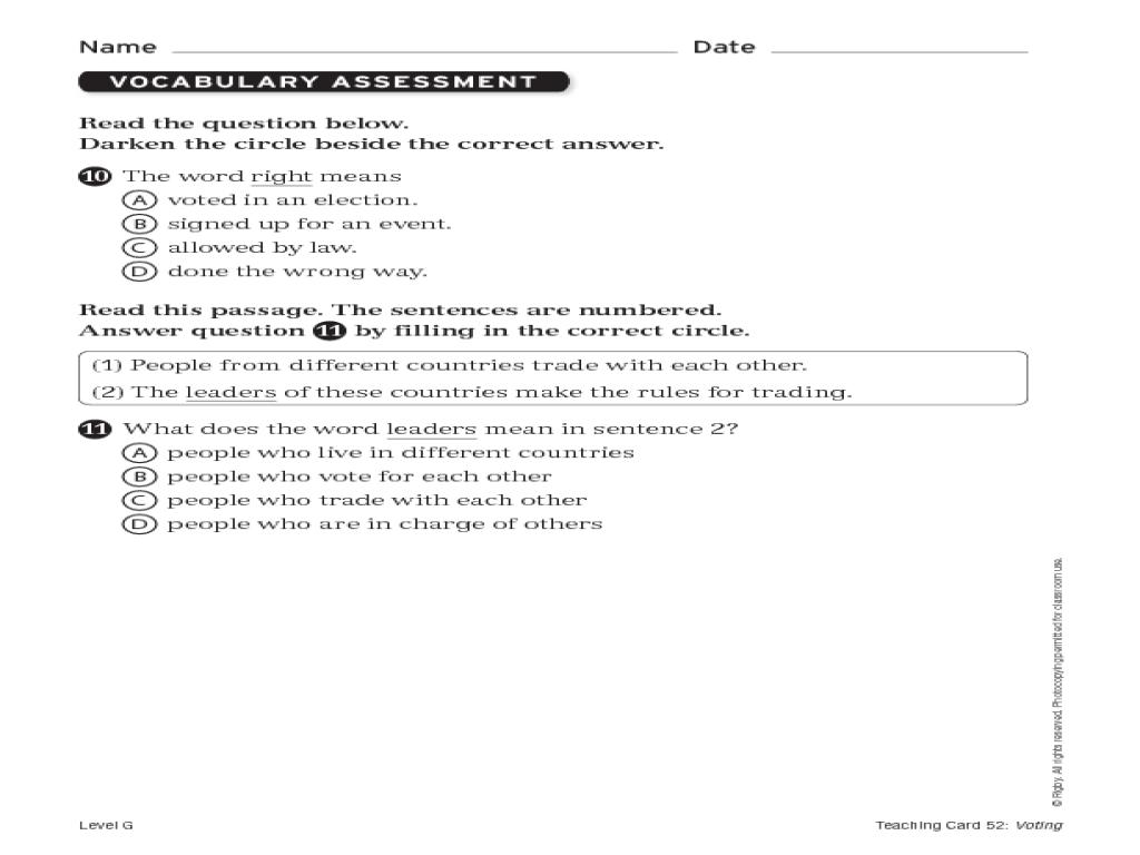 Phonics Assessment Worksheet For 1st