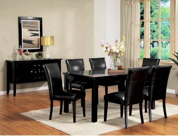 Best Black Lacquer Dining Room Chairs With Images Dining Table Black Modern Dining Room Set 640 x 480