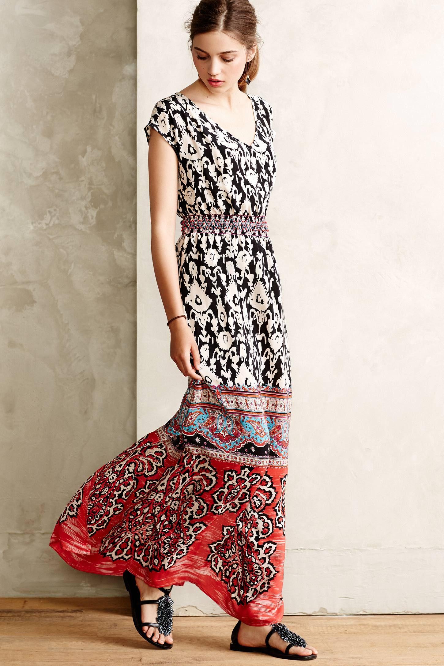 Scoop neck maxi dress anthropologie