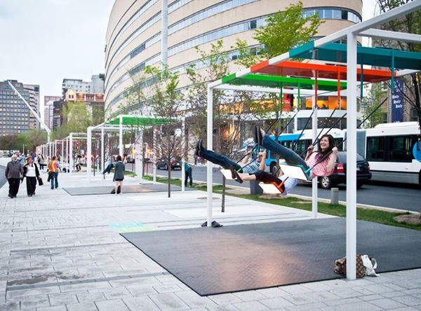 """21-Piece Swing Set """"Orchestra"""" Emits Sound and Light as Passersby Play!"""