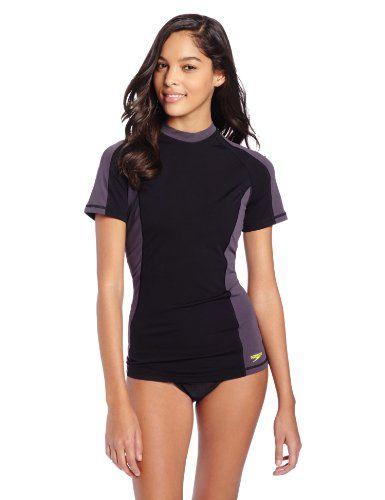 dd1d1572bf Speedo Women's Short Sleeve Rashguard Endurance Lite Swim Tee $31.66 (save  $10.34)