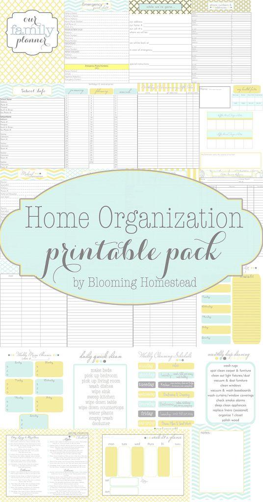 Home Organization Printables | Filofaxing, Kalender und Haushalte