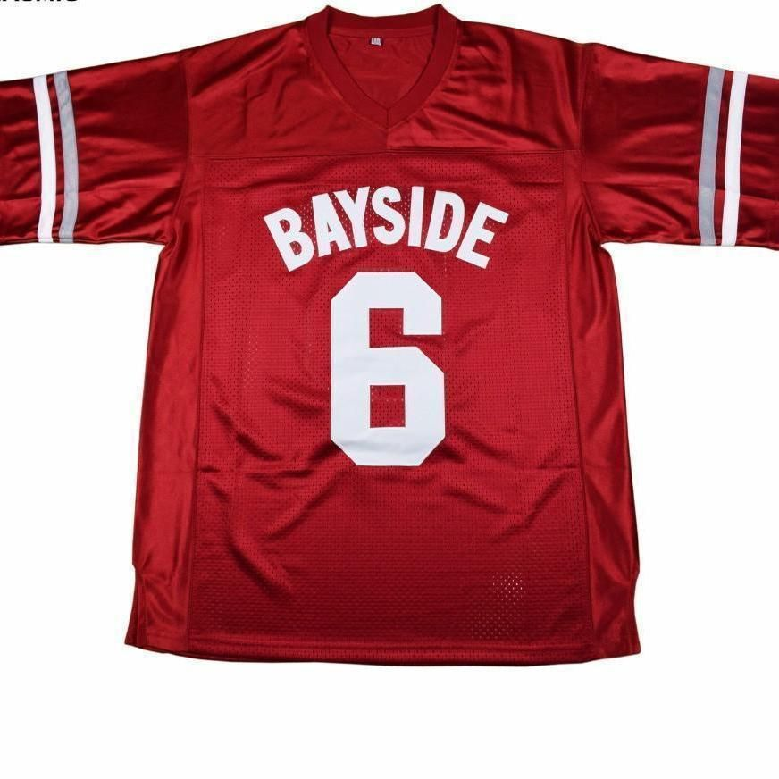 da8572696 ... 23652efa0 Saved By The Bell AC Slater 6 Bayside Football Jersey ...