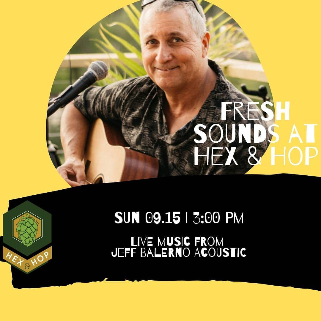 Jeff Balerno Acoustic starting at 3️⃣pm! @earthshineyogastudio joined us again this morning for another amazing yoga class! Open until 6️⃣pm. Cheers.