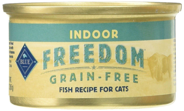 Blue buffalo blue freedom indoor cat fish food 24 by 3 oz