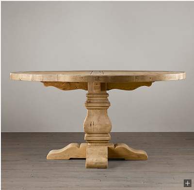 restoration hardware lookalikes restoration hardware pedestal salvaged wood round table