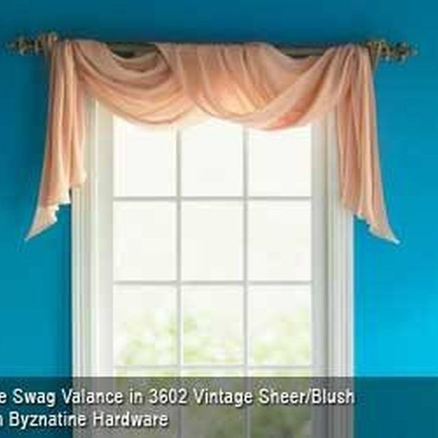 Sheer Scarf Valance Window Treatments Part - 37: How To Hang A Rod For A Window Scarf