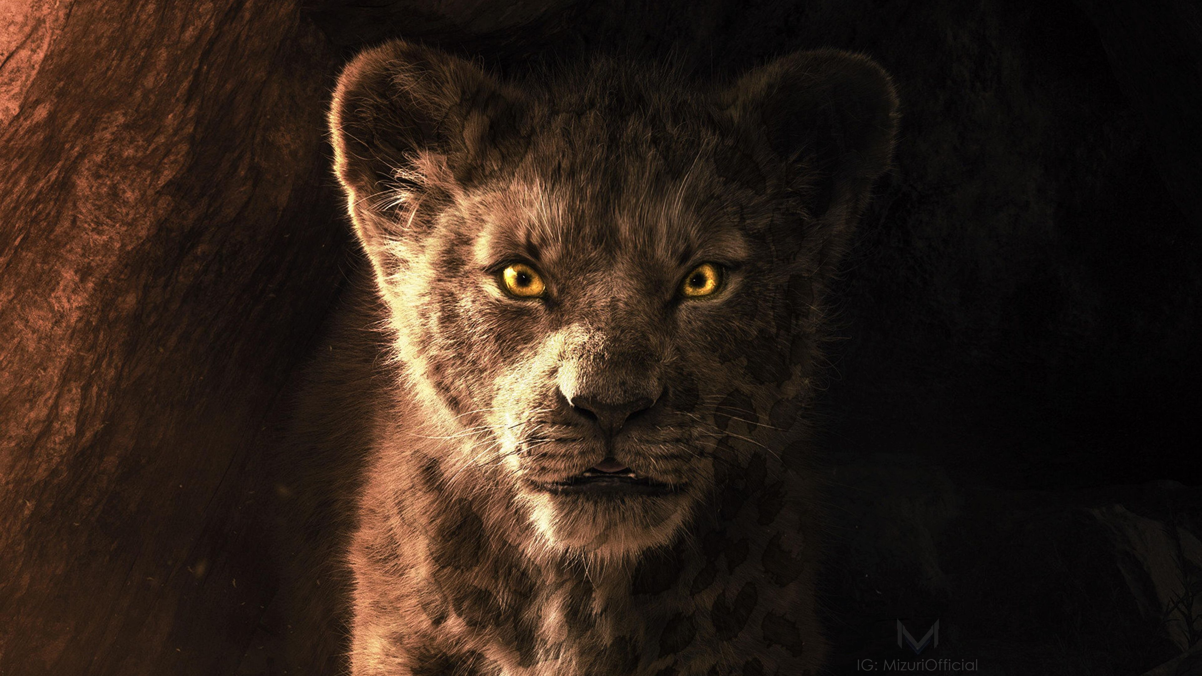 Wallpaper 4k The Lion King Simba 2019 4k Lion king simba