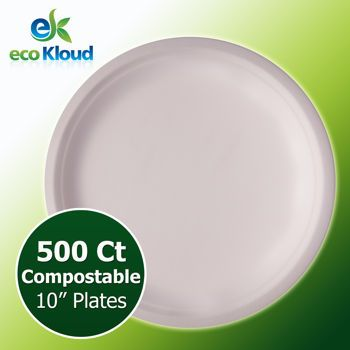 "Save money? Costco | eco Kloud 10"" Compostable Plate Bagasse"