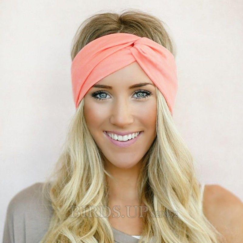 Twist Turban Headband for Women Bows Elastic Sport Hairbands Head Band Yoga Headbands  Headwear Headwrap Girls dbde87fb67d9