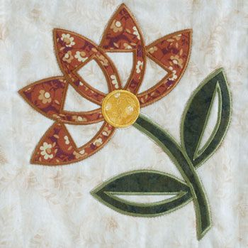Free Applique Patterns | the flower in this quilt with fusible ... : free flower applique patterns for quilts - Adamdwight.com