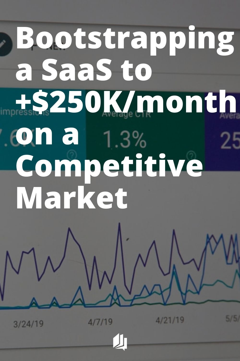 Bootstrapping A Saas To 250k Month On A Competitive Market Saas Success Business Start Up