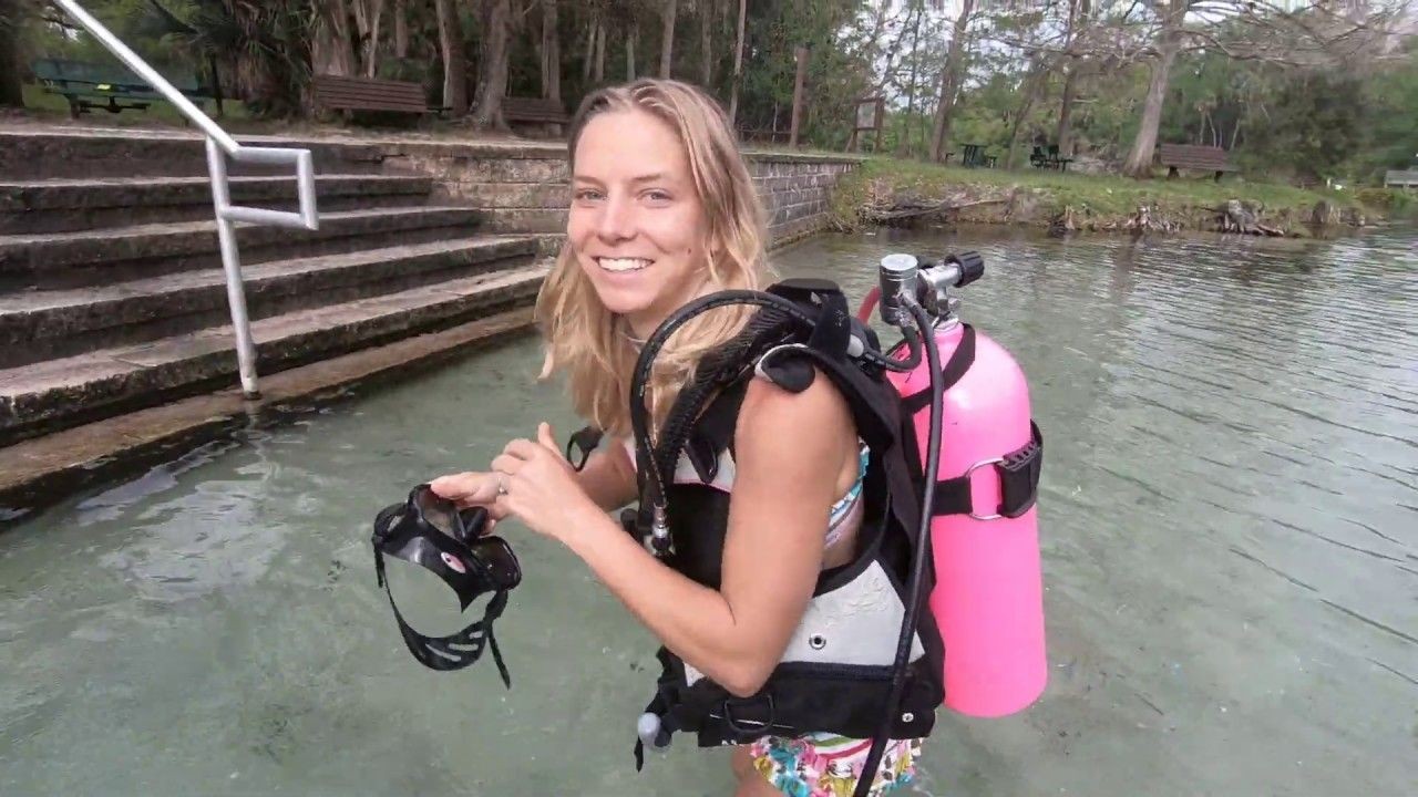 TrinaMason gearing up scuba Alexander Springs Florida
