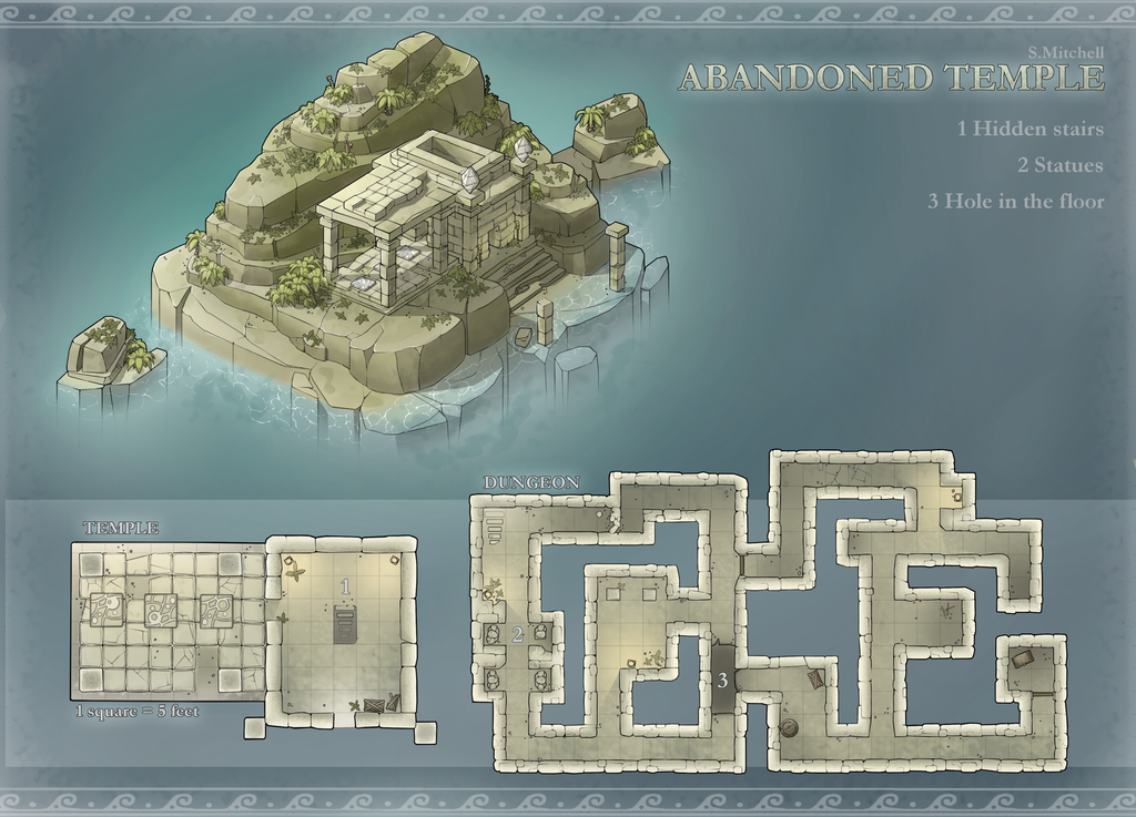 Map For Lord Of The Rings%0A Abandoned Temple   battlemaps