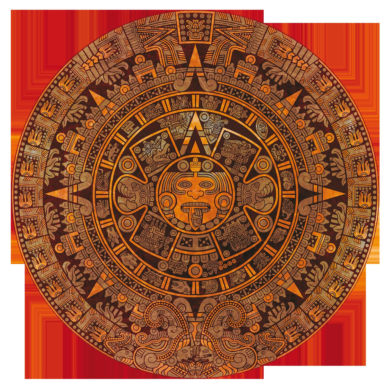 Stylized Aztec Calendar Aztec Tattoo Designs Aztec Calendar Calendar Vector