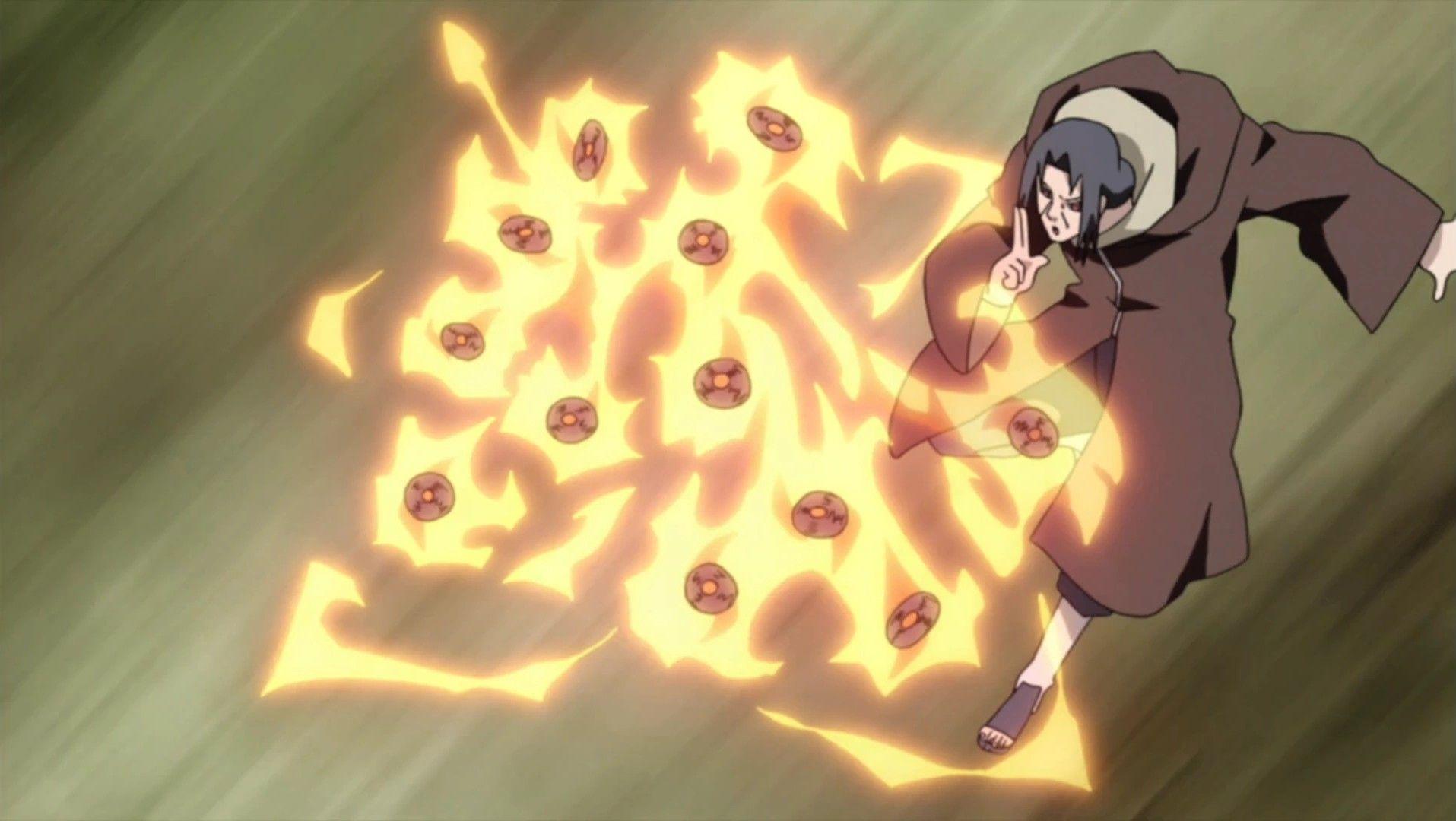 Itachi S Fire Enhanced Shurikenjutsu