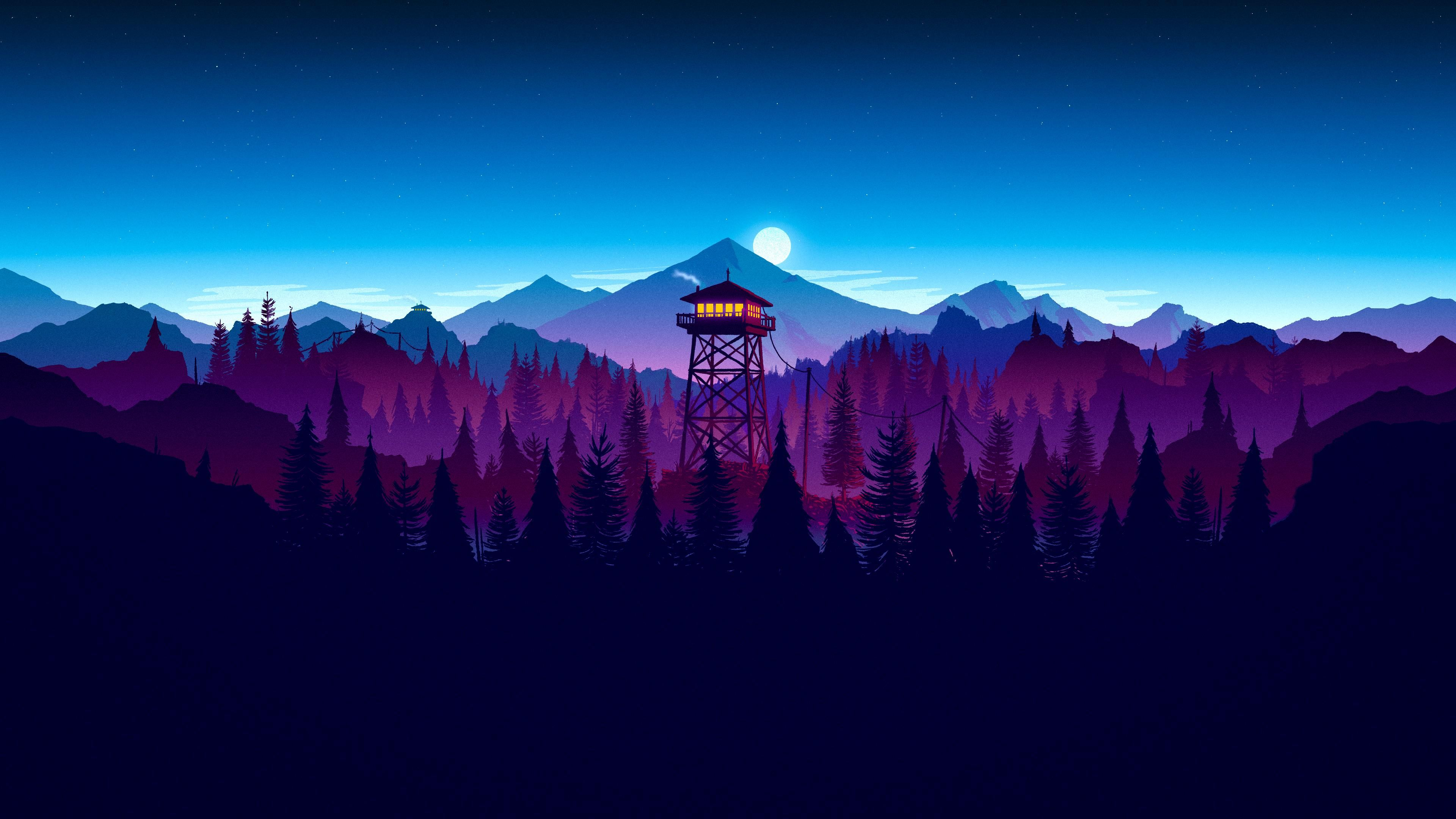 Firewatch Sunset Sunset artwork, Digital wallpaper