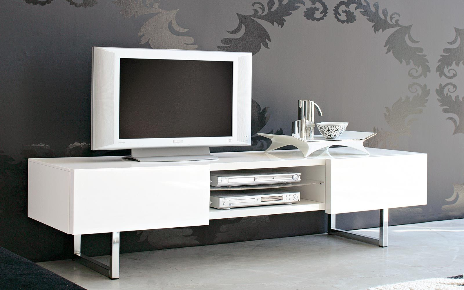 Calligaris Porta Tv.Seattle Tv Bench In Wood And Metal Calligaris Cs 6004 6