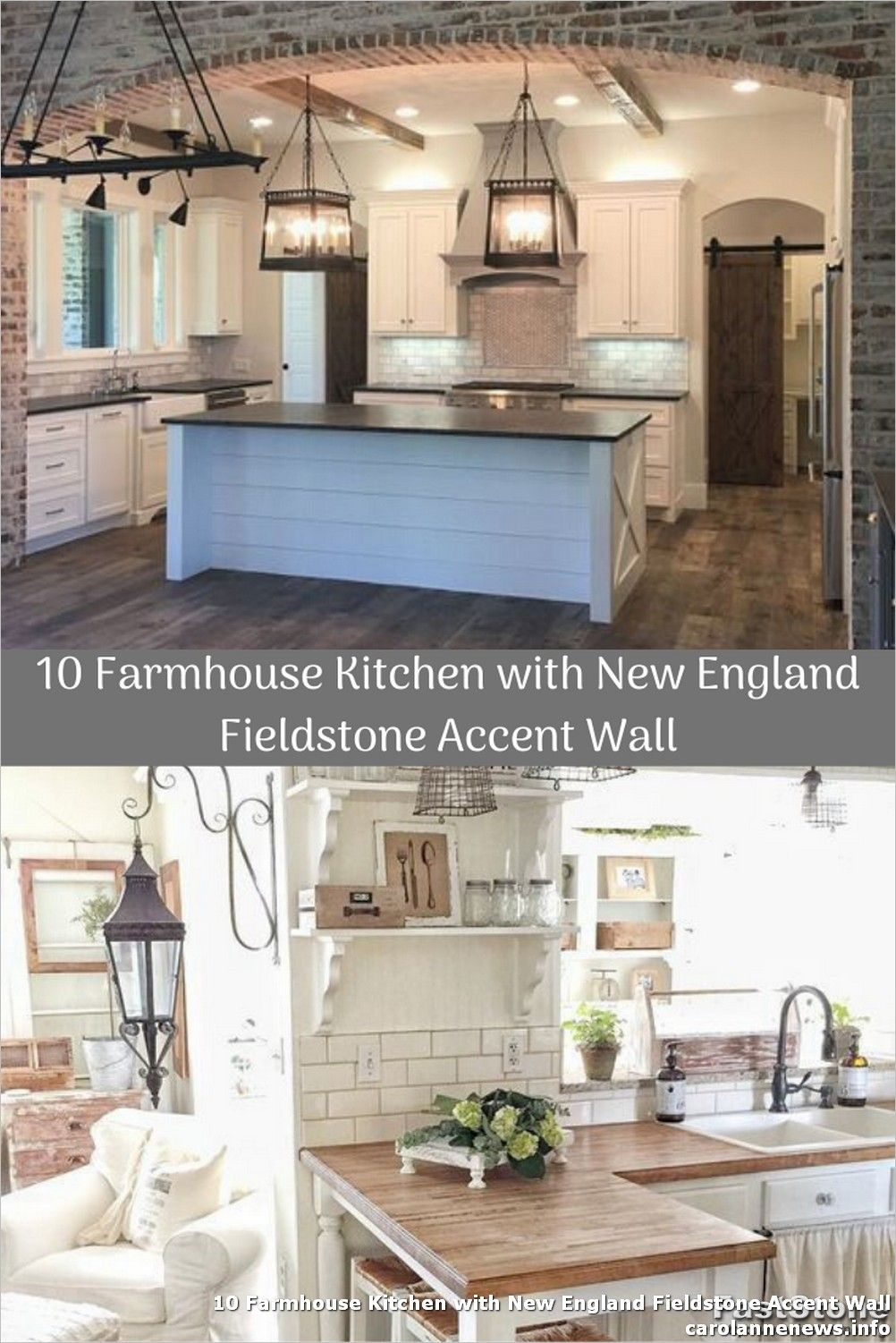 10 farmhouse kitchen with new england fieldstone accent wall in 2020 farmhouse kitchen accent on farmhouse kitchen wall colors id=55877