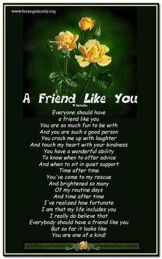 Friend Poems Friend Like You Wwwforangelsonlyorg A Friend Like You
