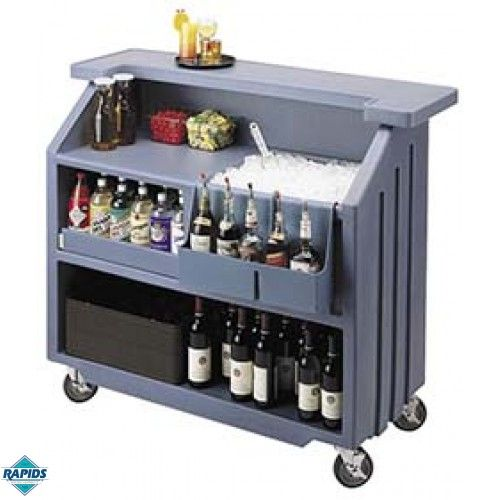 Superb Portable Patio Bars | Cambro Mobile Portable Bar   Black