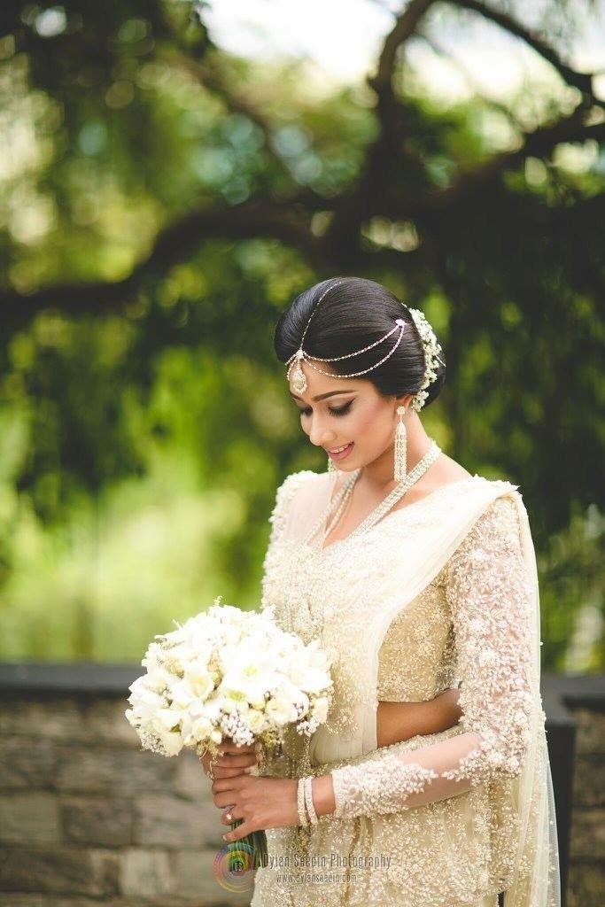 By Dhananjaya Bandara Sri Lankan Wedding SareeWhite