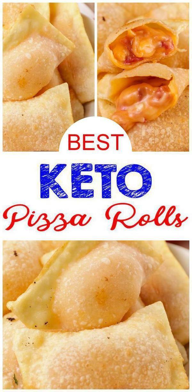 Photo of Schauen Sie sich diese EINFACHE einfache Zutat Keto Pizza Rolls an! Diese käsigen Pizzabrötchen …