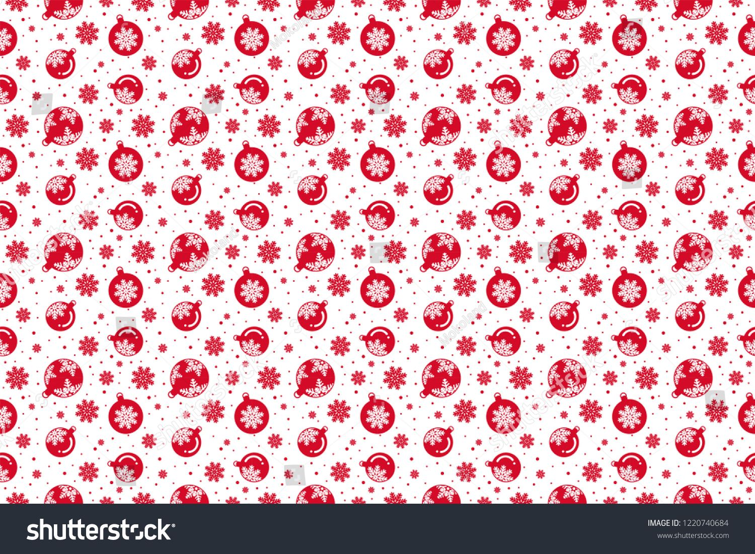 Merry Christmas Pattern Seamless Christmas Wallpaper Red And