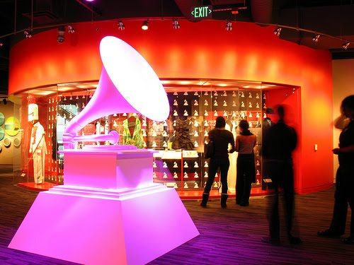 Image of giant Grammy replica at The Grammy Museum