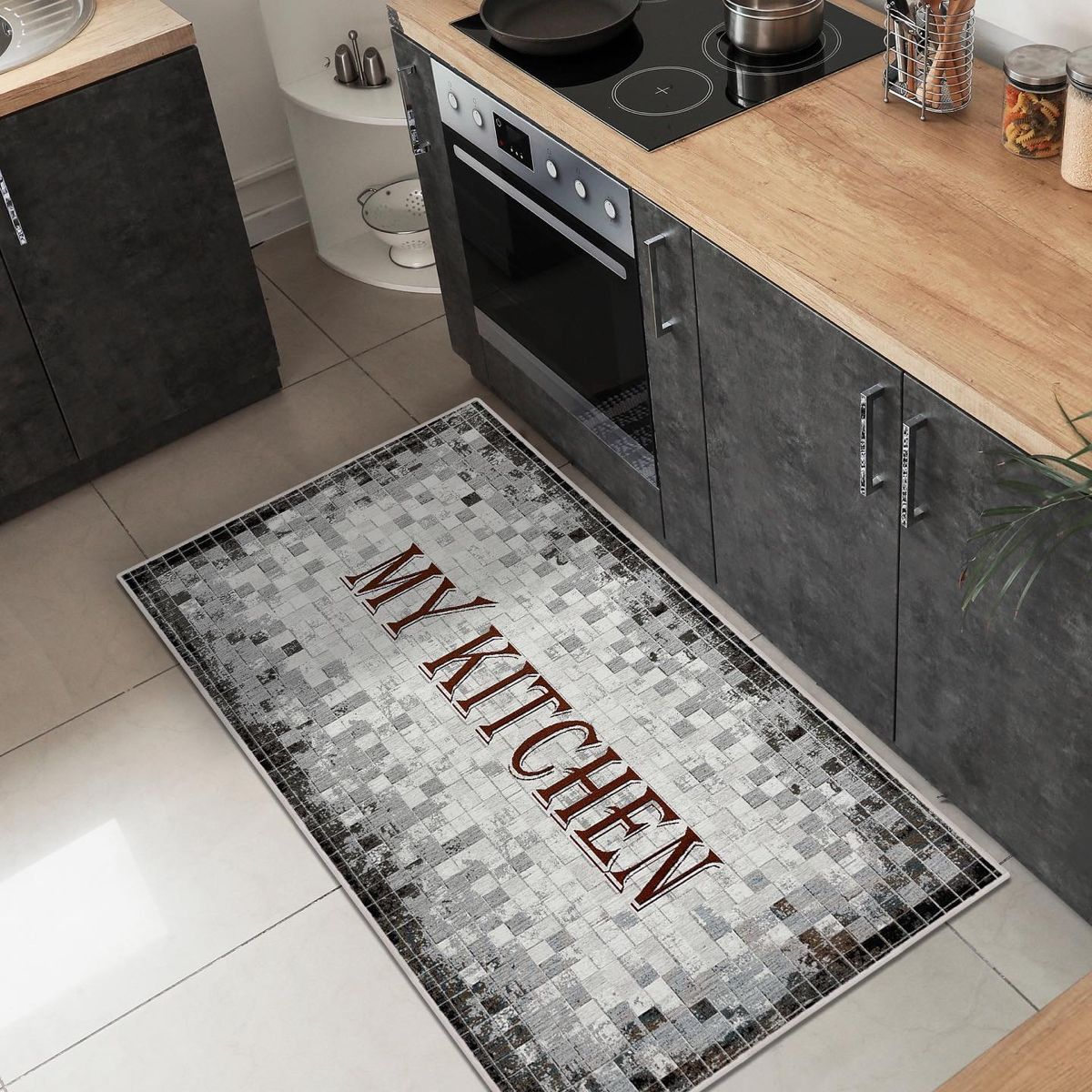 My Kitchen Rugs Non Slip Backing Special Gobelin Weaving In 2021 Kitchen Runner Rug Runner Kitchen Rugs Brown kitchen rugs washable