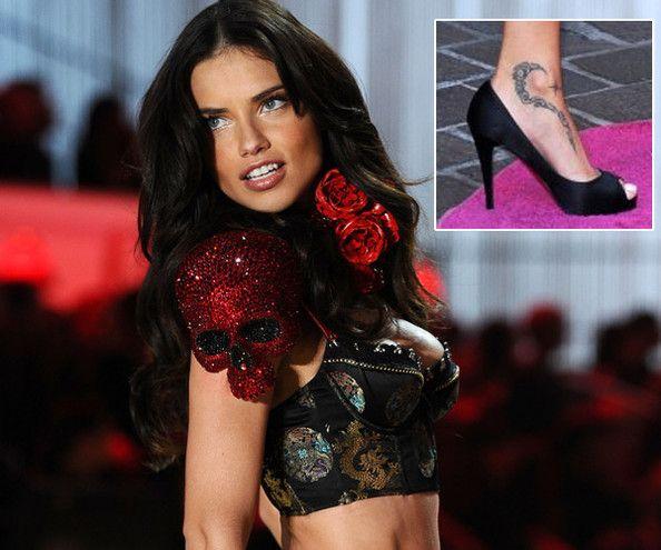 Celebrities With Tattoos Adriana Lima Celebrity Ink Celebrity Tattoos Models With Tattoos An Celebrity Tattoos Victoria Secret Fashion Show Celebrities