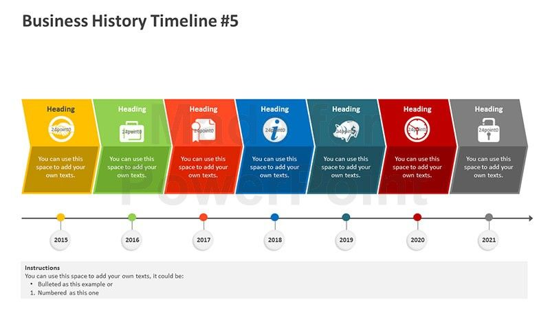 Visualize your organizations history by using our business history timeline on ppt khafre toneelgroepblik Gallery
