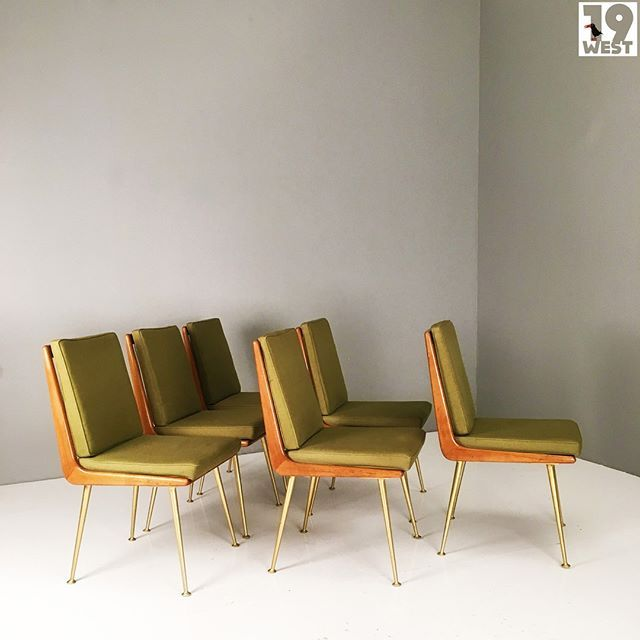 Soon on www.19west.de six rare ES Soloform dining chairs