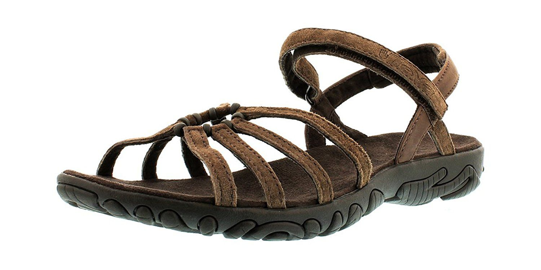outdoor sandalen damen teva schwarz leder
