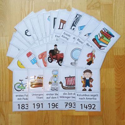 Ideenreise Karten Fur Eine Zeitleiste Zeitleiste Grundschule Geschichte Schule