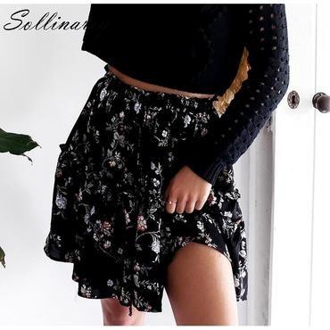 Women skirt elastic