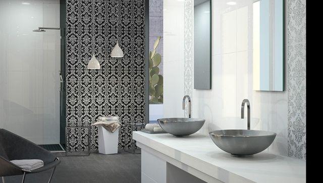 moderne Badezimmer Fliesen Ideen Muster schwarz Bathroom ~ Ideas - muster badezimmer fliesen