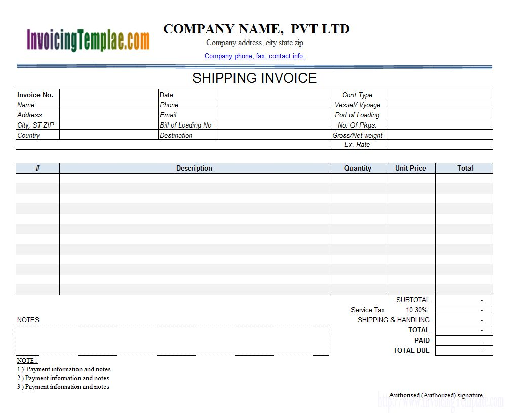 Invoice Template With Credit Card Payment Option Intended For Credit Card Bill Template Cumed Org Invoice Template Bill Template Receipt Template