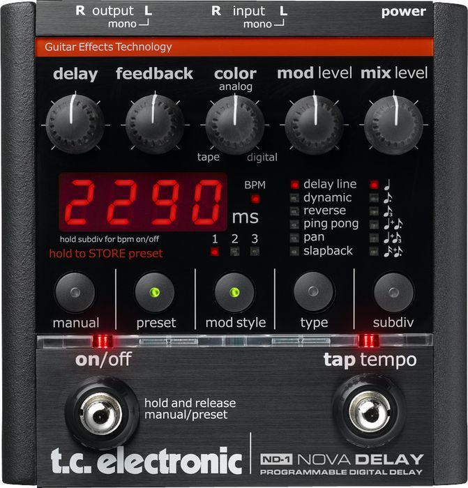 Tc Eletronic Nova Delay An Extremely Clean Sounding Beautiful Studio Quality Delay Box And Kind Of Delay Th Delay Pedal Guitar Effects Guitar Effects Pedals