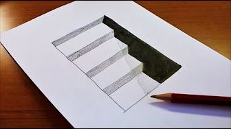 Very Easy How To Draw 3d Hole For Kids Anamorphic Illusion 3d Trick Art On Paper Youtube Easy 3d Drawing Easy Drawings Illusion Drawings
