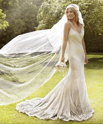 Celebrity Bohemian Wedding Dress Inspired By Kate Moss