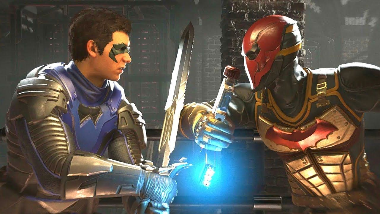 Injustice 2 - Robin Vs Red Hood - All Intro Dialogue/All Clash Quotes, S...  | Red hood, Injustice, Injustice 2