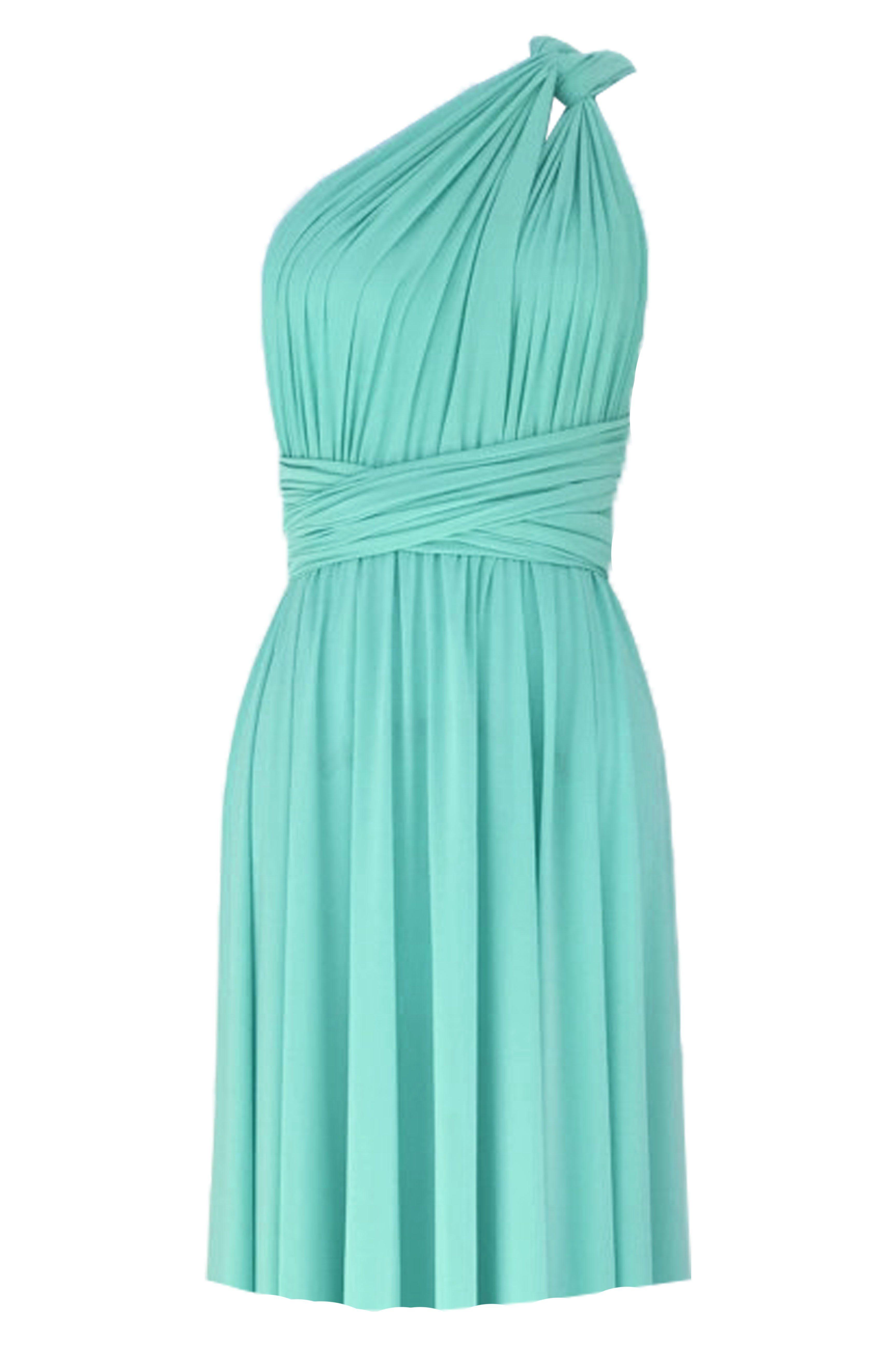 94fda24b7369 Convertible bridesmaids dress Tiffany blue infinity knee length dress Plus  size prom evening formal dress XS S M L XL 0XL 1XL 2XL 3XL 4XL 5XL  meta ...