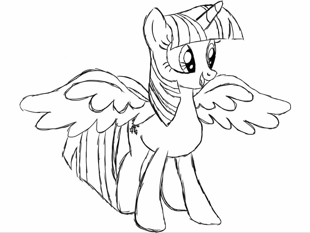My little pony coloring pages youtube - Princess Twilight Sparkle Alicorn Coloring Page Sketch Coloring Page See More My Little Pony