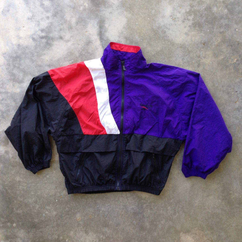 Vintage Reebok Windbreaker Jacket / Size Medium / Vintage 90s Reebok / Vintage Warmup Jacket / Reebok Classic BdZVqx8