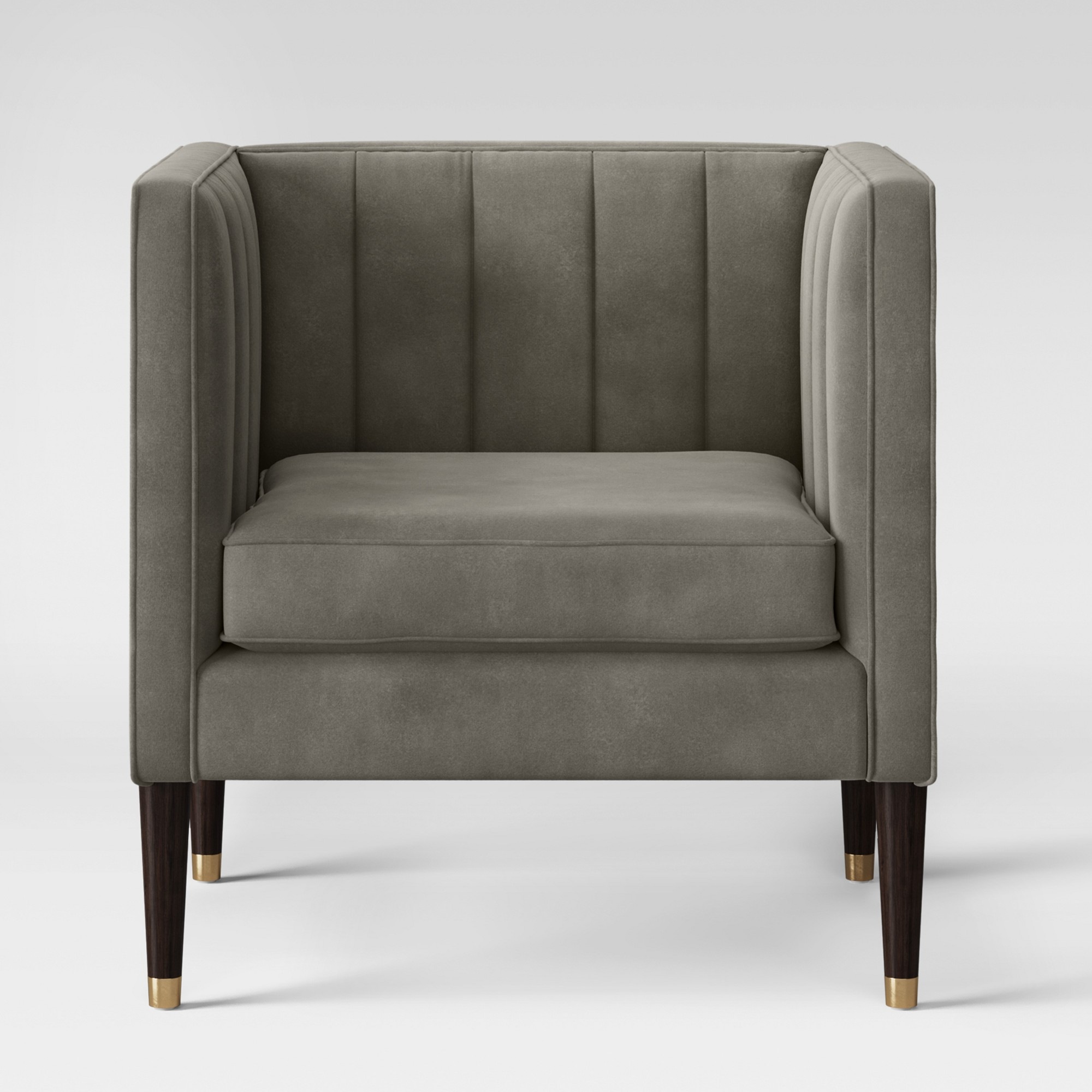 Best Soriano Channel Tufted Chair Gray Velvet Project 62 400 x 300